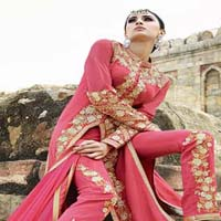 Leo Royal Georgette Pink Suit