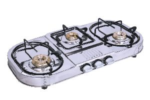 Knight Flame 3 Burner Step Gas Stove