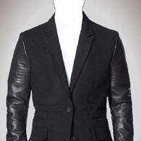 Genuine Cow Leather Fleece Jacket