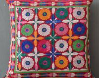 Indian Embroidered Patchwork Cushion Cover