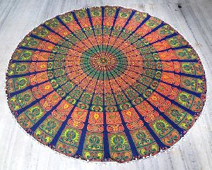 Bohemian Indian Mandala Handmade Cotton Beach Throw Towel
