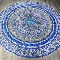 Boho Dorm Indian Mandala Handmade Floral  Cotton Beach Throw Towel