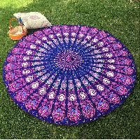 Boho Floral Indian Mandala Handmade Cotton Beach Throw Towel