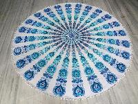 Boho Round With Fringe Tribal Indian Mandala Cotton Beach Throw Towel
