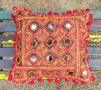 Banjara Style Floral Cotton Cushion Cover