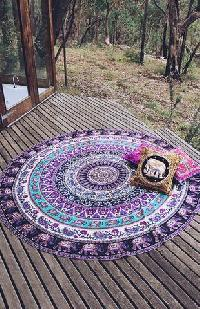 Hippie Elephant Indian Mandala Handmade Cotton Beach Throw Towel