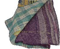 Handmade kantha Stitched Pattern Kantha Quilt