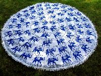 Mandala Round Tapestry Cotton Beach Throw