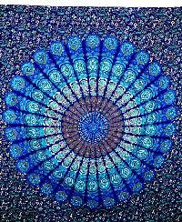 Indian Dorm Mandala Tapestry Cotton Bedsheet