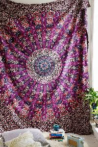 Hippy Indian Paisley Print Tapestry Cotton Wall Hanging