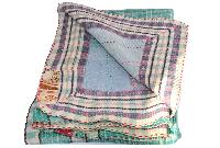 Hippy Indian Tribal Kantha Quilt