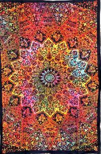Hippy Star Multi Coloured Tapestry Wall Hanging