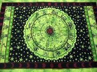 Hippy Zodiac Indian Mandala Tapestry Wall Hanging Tapestry