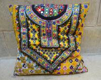 Floral Embroidered Patchwork Cushion Cover