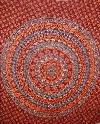 Indian Boho Dorm Tribal Mandala Tapestry Cotton Bedsheet