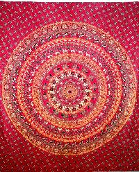 Bohemian Mandala Tapestry Cotton Bedsheet
