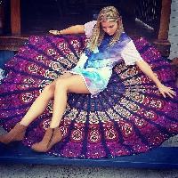 Indian Mandala Handmade Cotton Round Tapestry Beach Throw