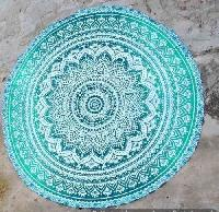 Indian Mandala Handmade Cotton Tribal Ombre Round Beach Throw Towel
