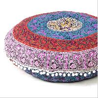 Indian Mandala Round Roundie Pillow Cover