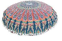 Indian Round Roundie Pillow Cover Mandala Decorative Cushion