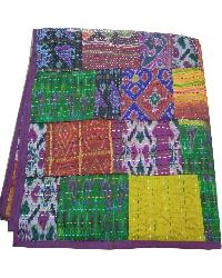 Indian Vintage Patchwork Kanth Twin Kantha Quilt