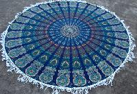 Mandala Round With Fringe Handmade Cotton Beach Throw Towel