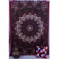 Red Star Indian Mandala Twin Size tapestry Wall Hanging