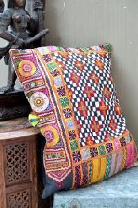 Square Indian Banjara PatchWork Cushion Cover