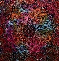 Star Multi coloured Print Indian Mandala Wall Hanging