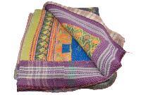 Handmade Stitched Pattern Kantha Quilt