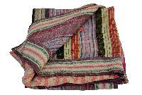Stitched Pattern Kantha Quilt