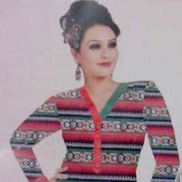 Ladies Full Sleeve Printed Cotton Kurti