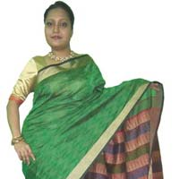 Kunchi Kantha Stitch Saree