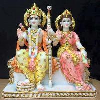 Marble Ram Sita Statues