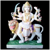 Marble Sherawali Mata Statues