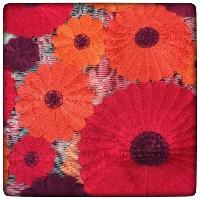 Superb Net Flower Embroidery