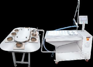 Spot Cake Depositor With Circular Conveyor & Muffin Conveyor