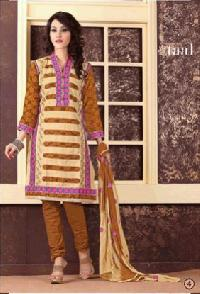 Ladies Cotton Suits With Printed Nazneen Dupatta