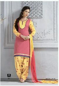 Ladies Cotton Suits With Chiffon Dupatta