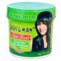 Ladys man hair food