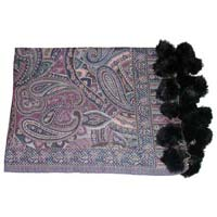 Pashmina Shawls With Fur Balls Latest Fashion