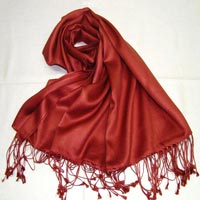 Satin weave pure silk shawl and scarf in wide range of colors
