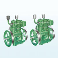 Slow Speed Double Cylinder Water Cooled Diesel Engine