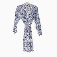 Blue & White Flower Short Robe