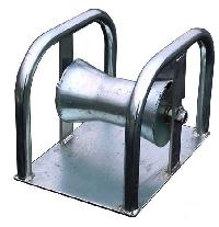Cable Rollers With Ground Plate