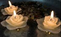 Rose Flower Candle