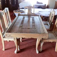 Walnut Wood Handcrafted Dining Table