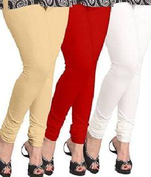 plain leggings cotton lycra