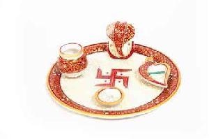 Marble Decorative Pooja Thali