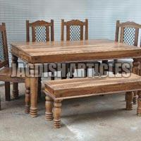 DINING TABLE WITH 4 CHAIR & 1 BENCH